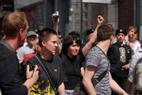 """Activists at Gay Pride 2007 in Moscow. Photo courtesy """"Pavel."""" Click for more photos."""