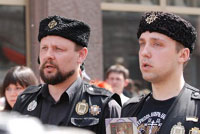 Russian nationalists at Gay Pride 2007 in Moscow. Photo courtesy 'Pavel.' Click for more picutres.
