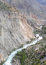 Kyrgyzstan's rugged terrain creates both transportation problems and hydroelectric possibilities.