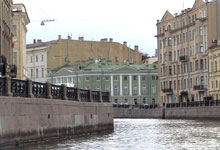 A waterway in historic downtown St. Petersburg.