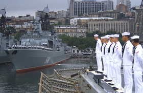 The US Navy maintains a presence in Vladivostok