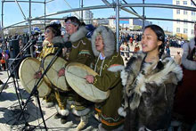 Native peoples of chukotka performing traditional music. Source: chukotka.org