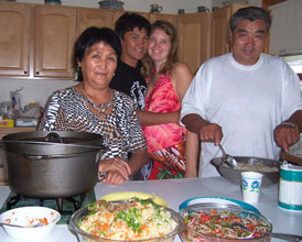 Making traditional Kyrgyz food in America