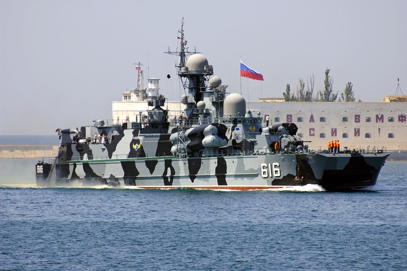 The Samum is a missile-equipped hovercraft currently serving in the Black Sea Fleet.