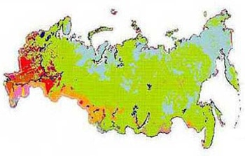 Intensively of Russian agriculture as of 2006.