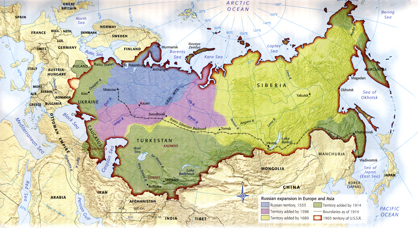 Who ruled the lands of Russia in the Middle Ages