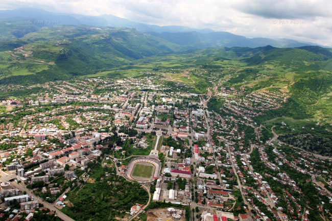 Sepanakert from the air