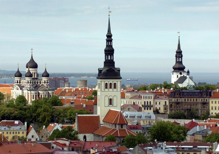 Tallinn's old city skyline today