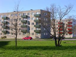 Soviet era apartment buildings in Tallin