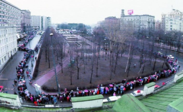 This line formed for Moscow's first McDonald's in January, 1990.