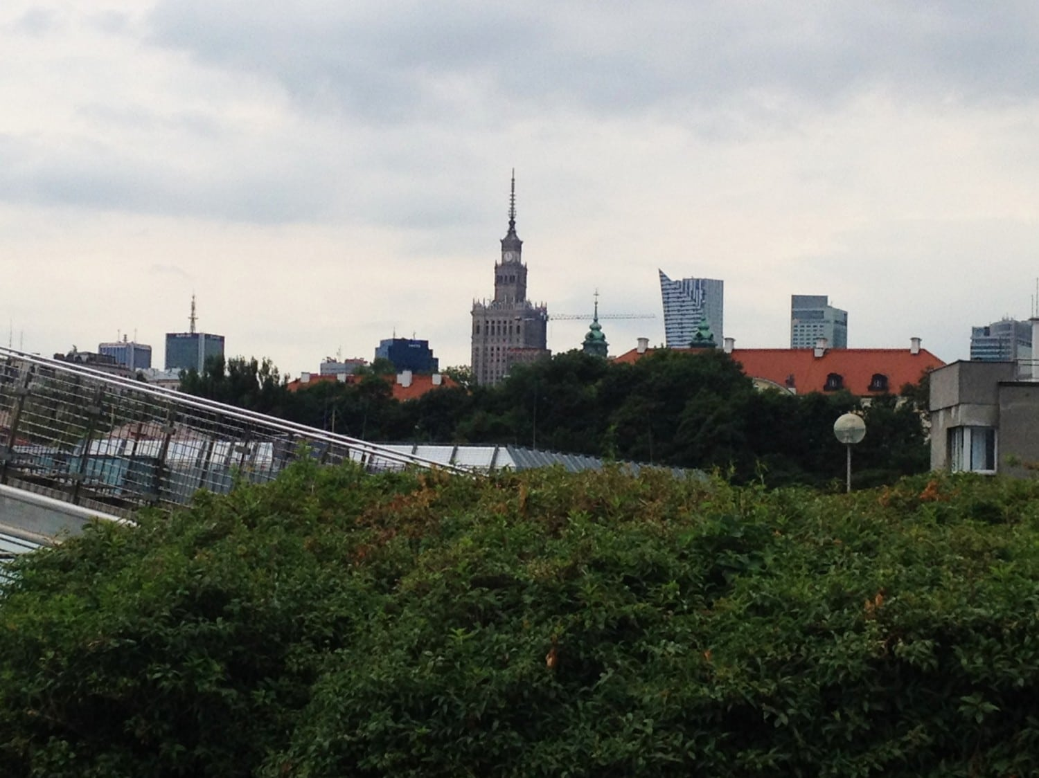 You can also see Plac Kultury i Nauki from the green roof - about a 30 minute walk from the library.